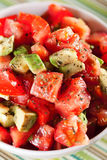 Tomato and avocado salad Royalty Free Stock Image