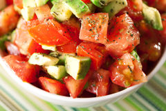 Tomato and avocado salad Stock Photography