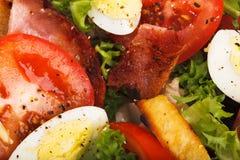 Tomato and bacon salad Stock Photo