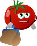 Tomato with bag Royalty Free Stock Photos