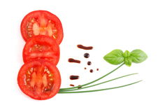 Tomato and balsamic vinegar Stock Images