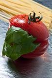 Tomato and basil Royalty Free Stock Photo