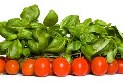 Tomato and basil royalty free stock photo
