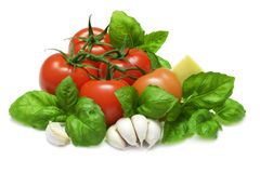 Tomato and Basil Stock Photo