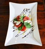 Tomato basil and mozzarella salad Stock Image