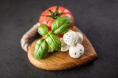 Tomato basil and mozzarella Stock Photo