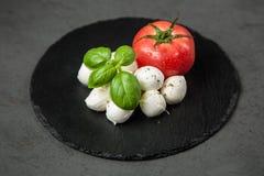 Tomato basil and mozzarella Royalty Free Stock Images