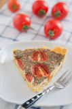Tomato Basil Quiche Stock Photography