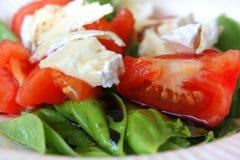 Tomato and basil salad Stock Image