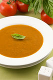 Tomato basil soup Stock Photos
