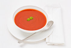 Tomato and Basil Soup of the day Royalty Free Stock Images