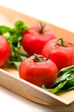 Tomato with basilicum Stock Image