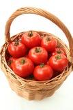 Tomato basket Stock Photos