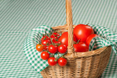 Tomato basket Stock Photo