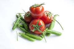 Tomato and bean Stock Photography