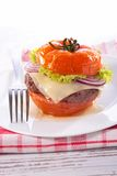 Tomato,beef and cheese Royalty Free Stock Photos