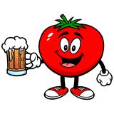 Tomato with Beer Royalty Free Stock Photography