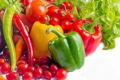 Tomato and bell pepper Royalty Free Stock Photos