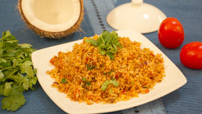 Tomato bhath is a rice preparation from karnataka, India. Tomato bhath is an easy one pot rice dish from the udupi region of karanatka and it is made with rice Royalty Free Stock Images