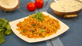 Tomato bhath is a rice preparation from karnataka, India. Tomato bhath is an easy one pot rice dish from the udupi region of karanatka and it is made with rice Royalty Free Stock Photography