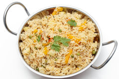 Tomato biryani in a kadai Royalty Free Stock Photo