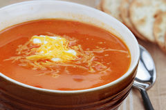 Tomato Bisque with Cheese Royalty Free Stock Photos