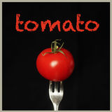 Tomato on black Royalty Free Stock Image