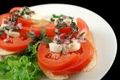 Tomato And Bocconcini Bites Royalty Free Stock Image