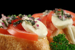Tomato And Bocconcini Bites Stock Photography