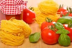 Tomato Bolognaise Ingredients Stock Photo