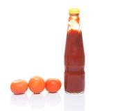 Tomato and Bottled Tomato Sauce II Royalty Free Stock Image