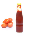 Tomato and Bottled Tomato Sauce III Royalty Free Stock Photography