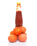 Tomato and Bottled Tomato Sauce IV Royalty Free Stock Images