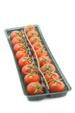 Tomato in box close up Royalty Free Stock Images