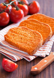Tomato bread Stock Photography