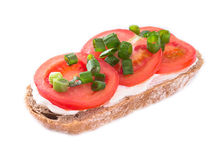 Tomato bread against a white background Stock Photography