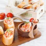 Tomato Bread Salad Recipe Stock Image