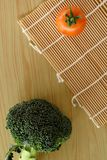 Tomato broccoli vegetable background Stock Images