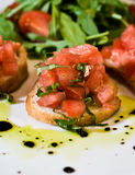 Tomato bruschetta Stock Photos