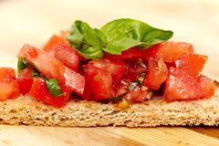 Tomato bruschetta Stock Photography