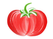 Tomato Brush Art Royalty Free Stock Photography