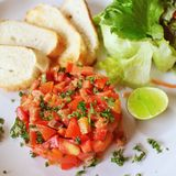Tomato Brushetta Royalty Free Stock Photos