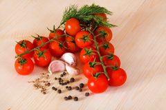 Tomato bunch Stock Photo