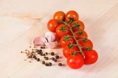 Tomato bunch Stock Photos