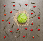 Tomato and cabbage for cooking and healthy. Royalty Free Stock Images