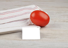 Tomato and card Royalty Free Stock Photos