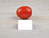 Tomato and card Royalty Free Stock Photo