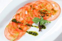 Tomato Carpaccio Stock Image