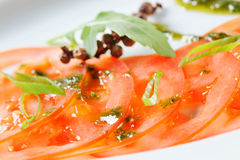 Tomato Carpaccio Royalty Free Stock Photography