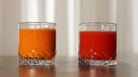 Tomato and carrot fresh. stock video footage